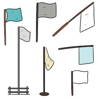 Reihe von flags