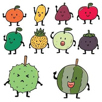 Reihe von früchten