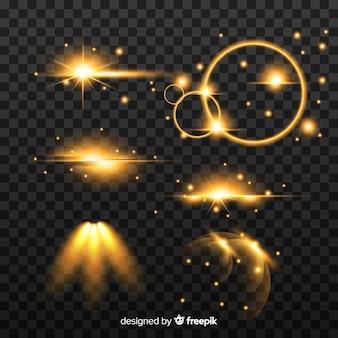 Reihe von glänzenden lichteffekten