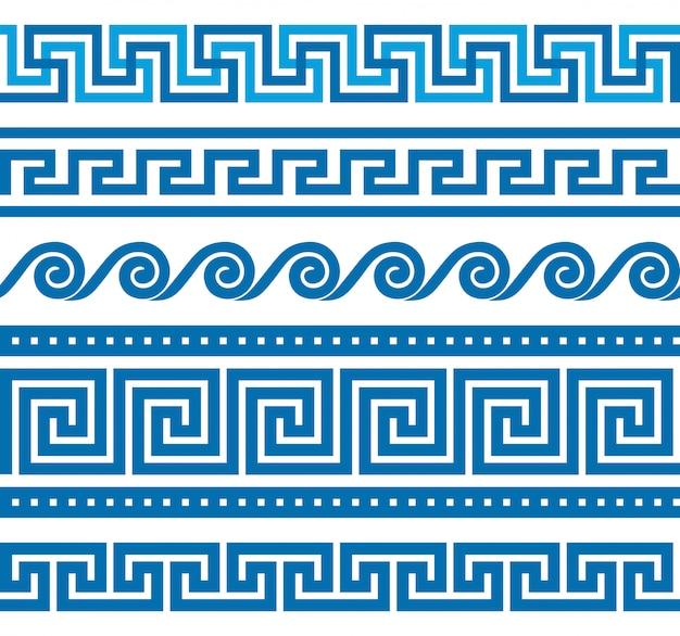Reihe von griechischen grenzen
