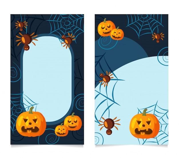 Reihe von halloween-geschichten für instagram