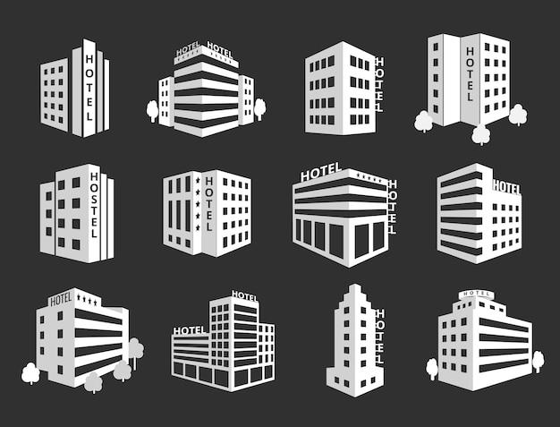 Reihe von hotels