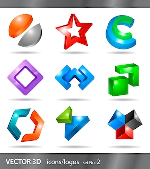 Reihe von icons oder logos