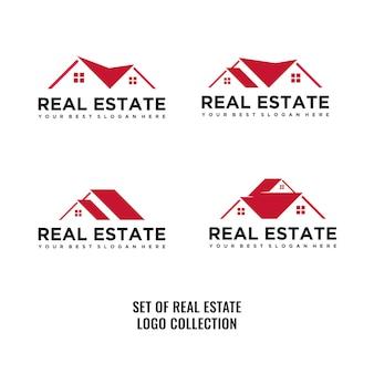 Reihe von immobilien-logo