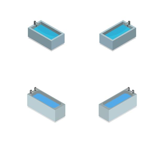 Reihe von isometrischen badewannen
