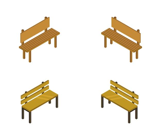 Reihe von isometrischen bänken