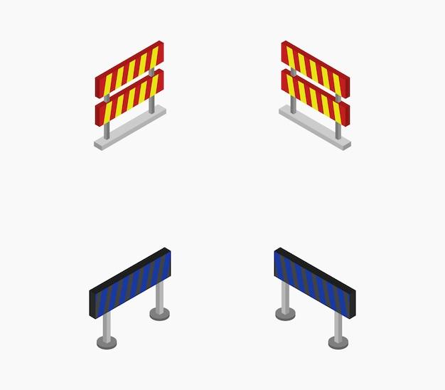 Reihe von isometrischen straßensperren