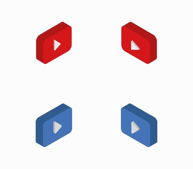Reihe von isometrischen wiedergabetasten