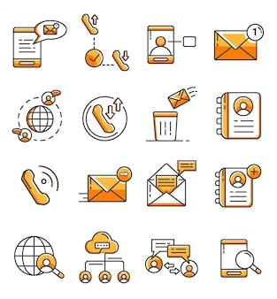 Reihe von kommunikations-icons