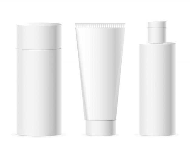 Reihe von kosmetik-paketen