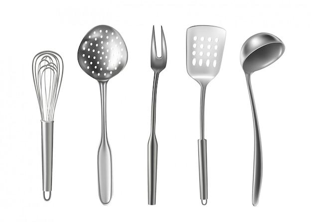 Reihe von küchenutensilien
