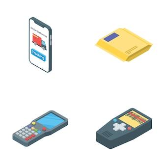 Reihe von logistik lieferung icons