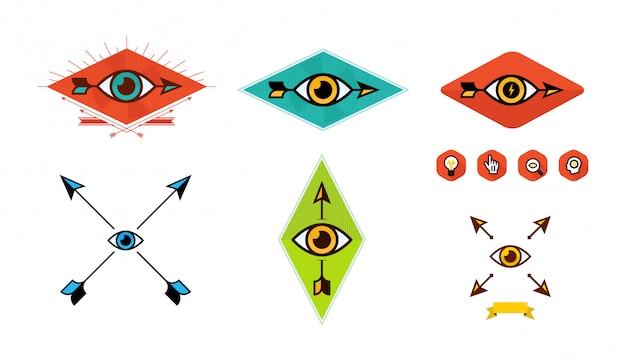 Reihe von logos für das unternehmen.