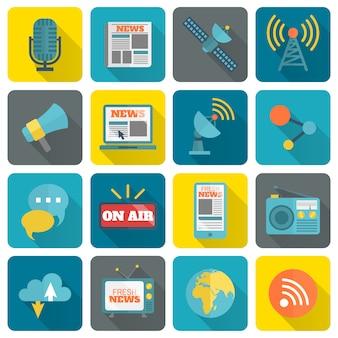 Reihe von medien-icons