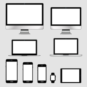 Reihe von modernen elektronischen geräten
