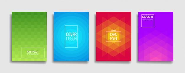 Reihe von modernen gradienten cover vorlage