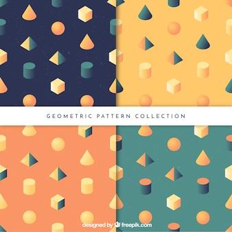 Reihe von mustern von geometrischen formen