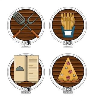 Reihe von restaurant-embleme
