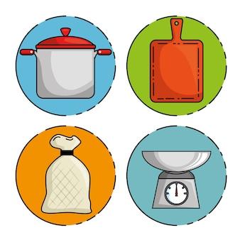 Reihe von restaurant-symbol