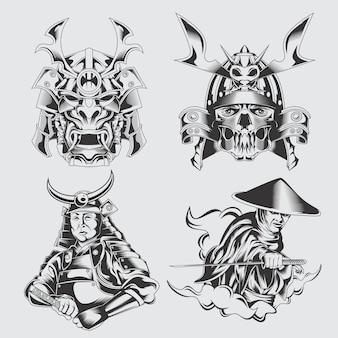 Reihe von samurai