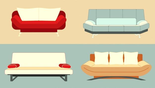 Reihe von sofas