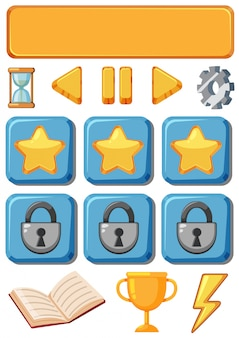 Reihe von spiel-symbol