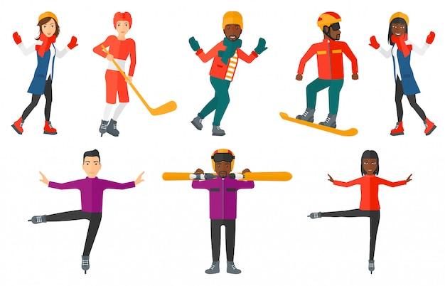 Reihe von sport-zeichen.