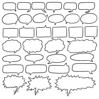 Reihe von sprechblasen
