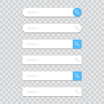 Reihe von suchleiste icons