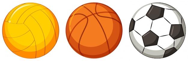 Reihe von verschiedenen ball