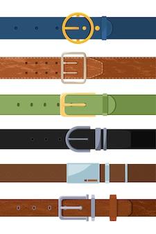 Reihe von verschiedenen farbigen gürtel