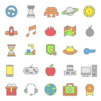 Reihe von videospiel-symbol
