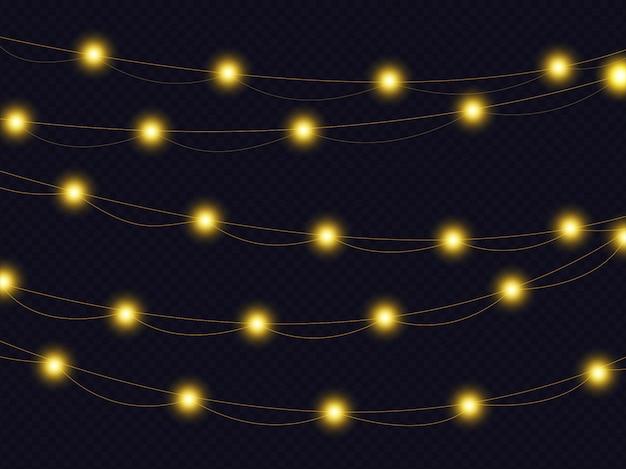 Reihe von weihnachtsbeleuchtung