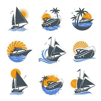 Reihe von yacht-icons