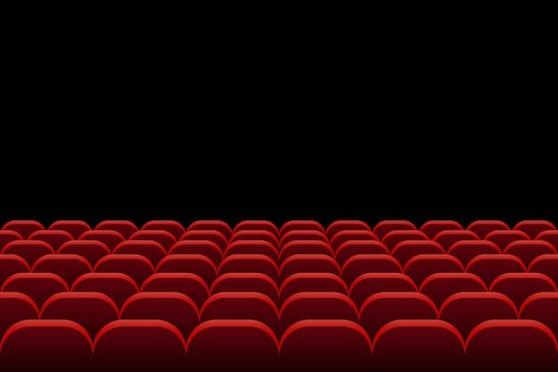 Reihen von theater- und kinositzen illustration