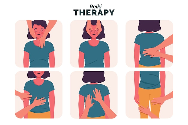 Reiki-therapie-illustration