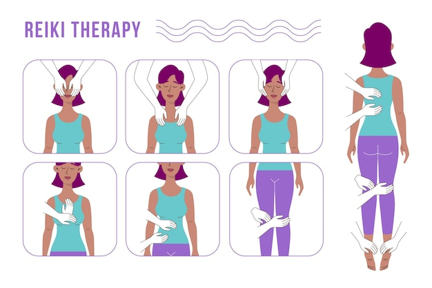 Reiki-therapie-illustrationskonzept