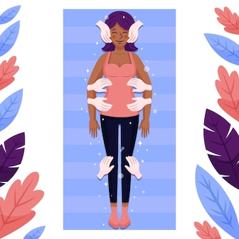 Reiki-therapie-illustrationskonzept