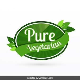 Rein vegetarische badge