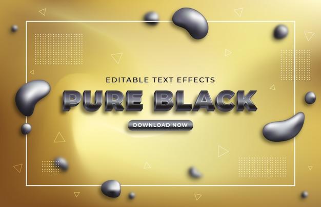 Reiner schwarzer texteffekt