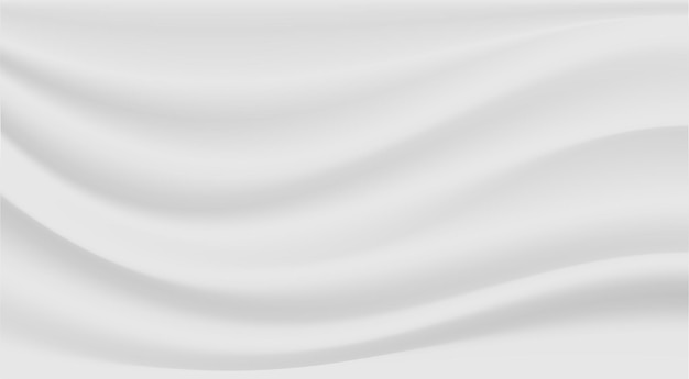 Reines luxustuch des abstrakten hintergrunds oder gewellte falten des weißen stofftexturhintergrunds.
