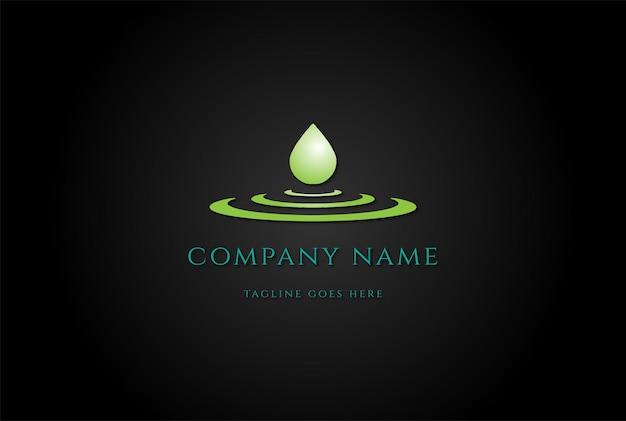 Reines wasser aqua flüssiges öl tropfen logo design vektor