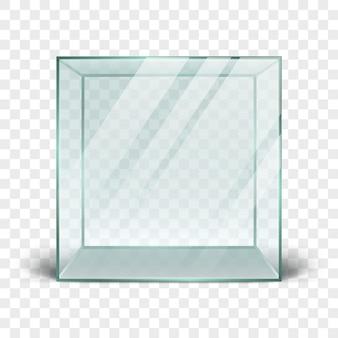 Reinigen sie die 3d-glasbox