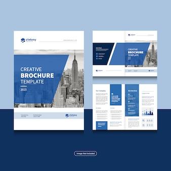 Reinigen sie die designvorlage für unternehmens-bi-fold-geschäftsbroschüren im a4-format.