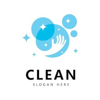 Reinigen und waschen sie kreative symbole für unternehmen reinigungsdienste grafikdesign