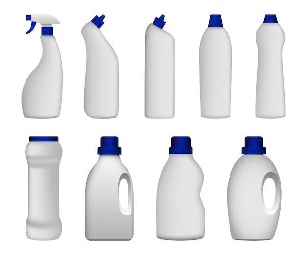 Reiniger mockup-satz für reinigungsmittelflasche