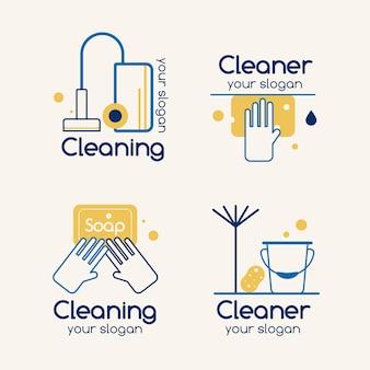 Reinigung der logo-sammlung