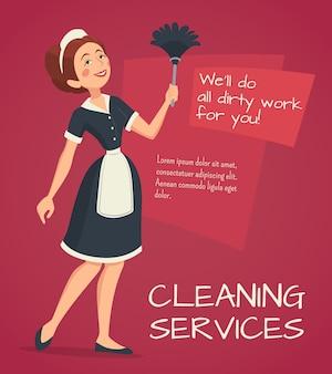 Reinigung werbung illustration