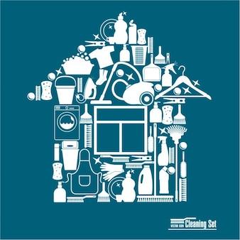 Reinigungs illustration für reinigung