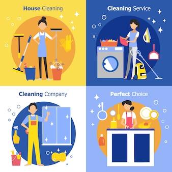 Reinigungsleute-konzept
